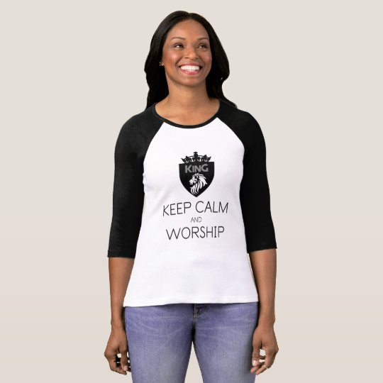 Christian KEEP CALM AND WORSHIP Women's T-Shirt