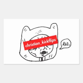 christian_kickflips rectangular sticker
