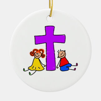 Christian Kids Christmas Ornament