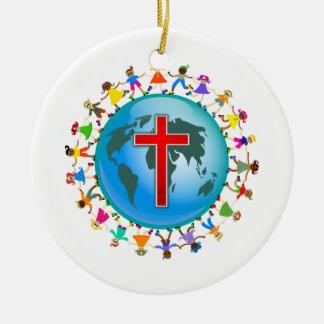 Christian Kids Christmas Ornament