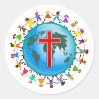 Christian Kids Round Sticker