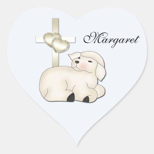 Christian Lamb Cross Sticker