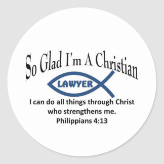 Christian Lawyer Classic Round Sticker