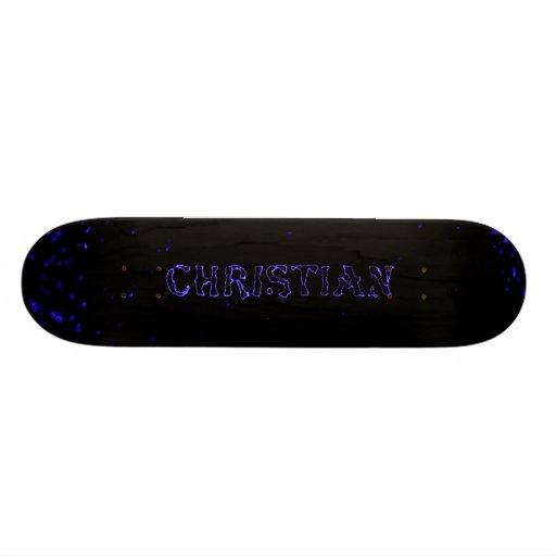 christian lightning stars custom skateboard deck