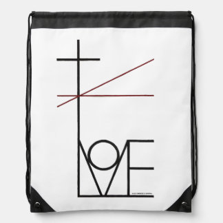 Christian Love Drawstring Backpack