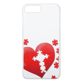 Christian love heart jigsaw puzzle iPhone 8 plus/7 plus case