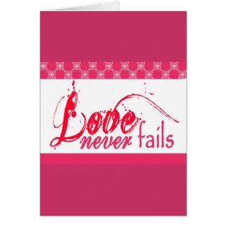 Christian Love Never Fails Greeting Card