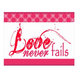 Christian Love Never Fails Post Card