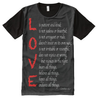 Christian LOVE Verses - Blood of Christ, Men's All-Over Print T-Shirt
