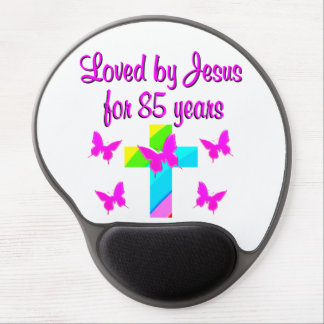 CHRISTIAN LOVED BY JESUS FOR 85 YEARS DESIGN GEL MOUSE PAD
