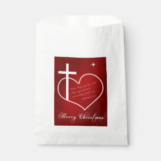 Christian Merry Christmas red Favour Bags