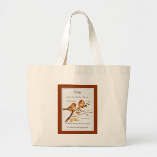 Christian Mother Scripture Proverbs 31 Large Tote Bag