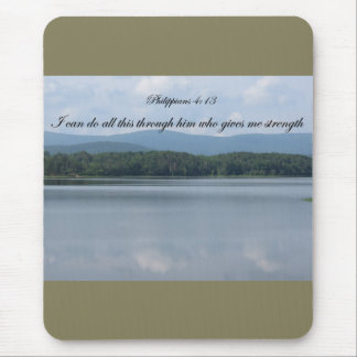 Christian Mouse Pad-all things through him Mouse Pad
