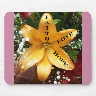 Christian Mouse Pad-Faith, Love, Hope Mouse Pad
