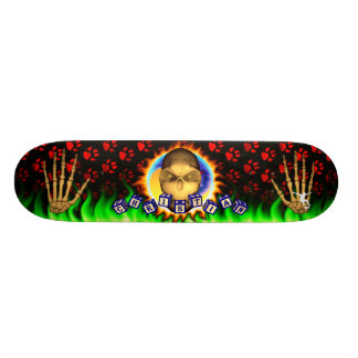 Christian Name Skull Blue Toy Blocks Skate Decks