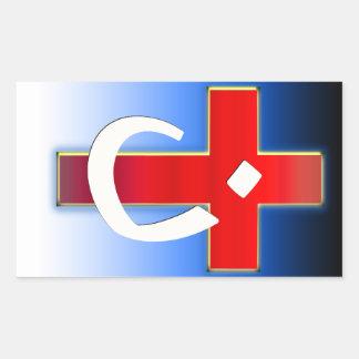 Christian Nazarene Cross #1 Rectangular Sticker