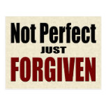 "Christian ""Not Perfect Just FORGIVEN"" Postcard"