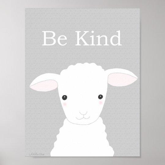 Christian Nursery Decor Cute Lamb Nursery Print