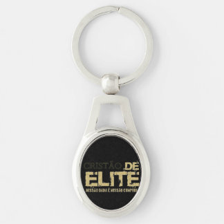 Christian of the elite Silver-Colored oval key ring