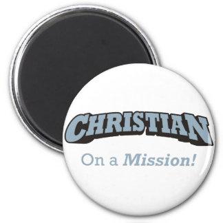 Christian on Mission 6 Cm Round Magnet