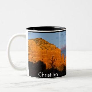 Christian on Moonrise Glowing Red Rock Mug