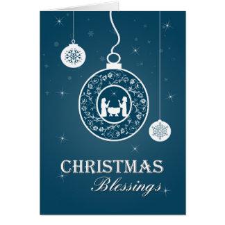 Christian Ornament Nativity Christmas Card