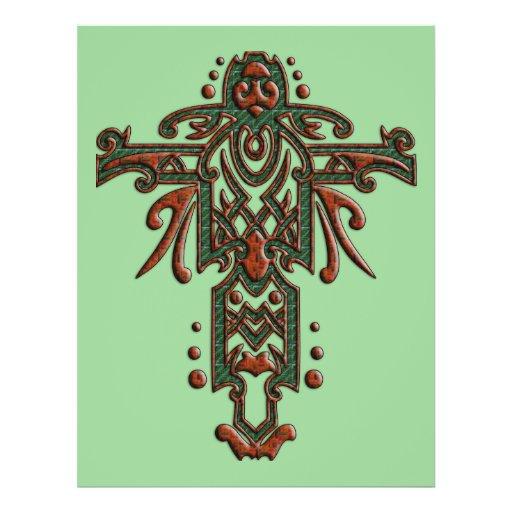 Christian Ornate Cross 13 Full Color Flyer