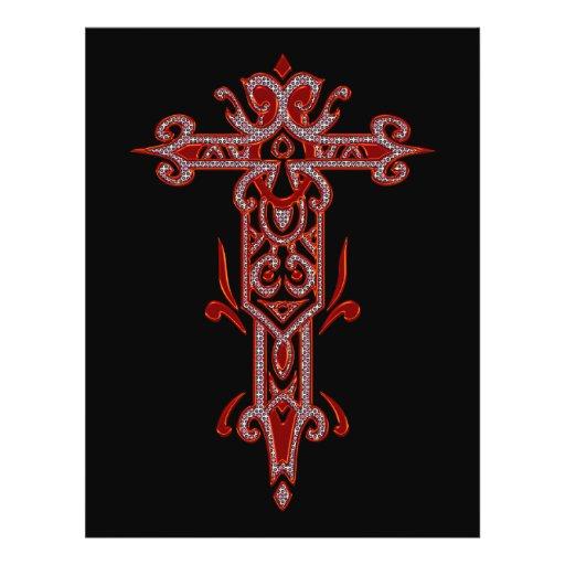 Christian Ornate Cross 22 Custom Flyer