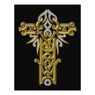 Christian Ornate Cross 24 Personalized Flyer