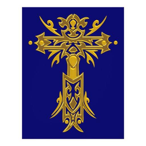 Christian Ornate Cross 27 Full Color Flyer