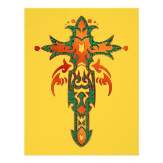 Christian Ornate Cross 36 21.5 Cm X 28 Cm Flyer