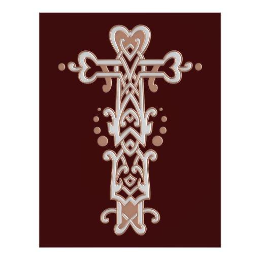 Christian Ornate Cross 38 Personalized Flyer