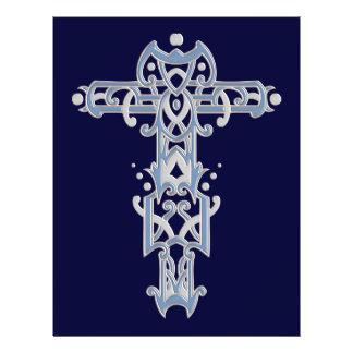 Christian Ornate Cross 40 Personalized Flyer