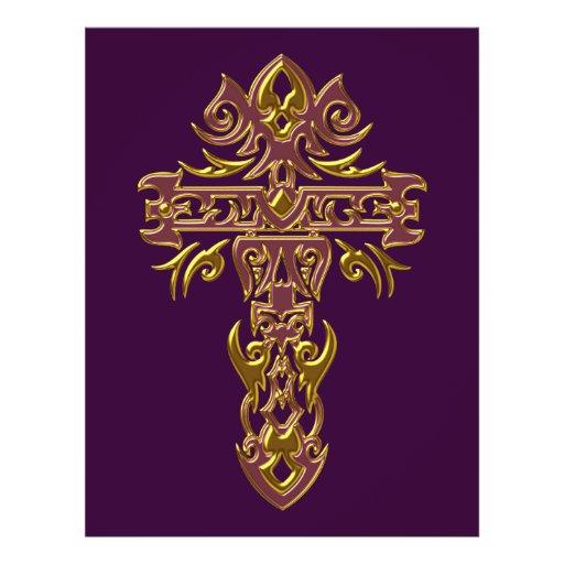 Christian Ornate Cross 48 Full Color Flyer
