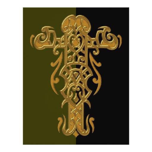 Christian Ornate Cross 49 Full Color Flyer