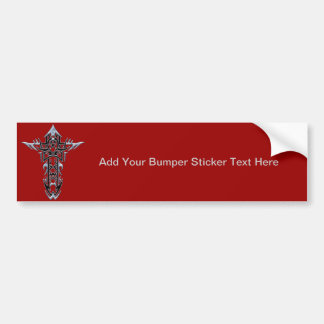 Christian Ornate Cross 51 Bumper Sticker