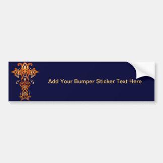 Christian Ornate Cross 58 Car Bumper Sticker