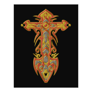 Christian Ornate Cross 59 21.5 Cm X 28 Cm Flyer