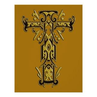 Christian Ornate Cross 5 Custom Flyer