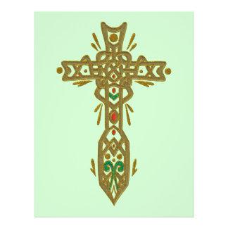 Christian Ornate Cross 62 Personalized Flyer