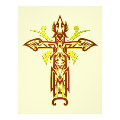 Christian Ornate Cross 63 Full Color Flyer