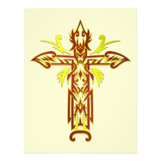 Christian Ornate Cross 63 Personalised Flyer