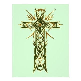 Christian Ornate Cross 68 Custom Flyer