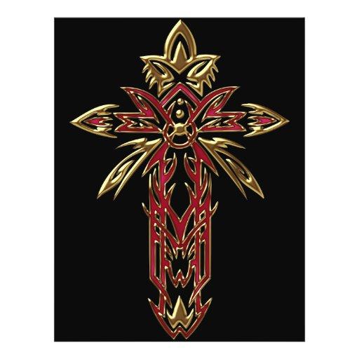Christian Ornate Cross 74 Flyers
