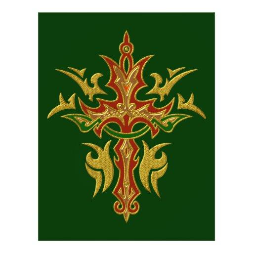 Christian Ornate Cross 78 Flyers