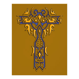 Christian Ornate Cross 8 21.5 Cm X 28 Cm Flyer