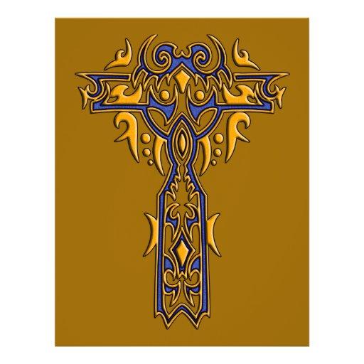 Christian Ornate Cross 8 Personalized Flyer