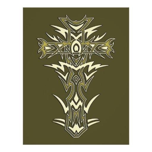 Christian Ornate Cross Flyer Design
