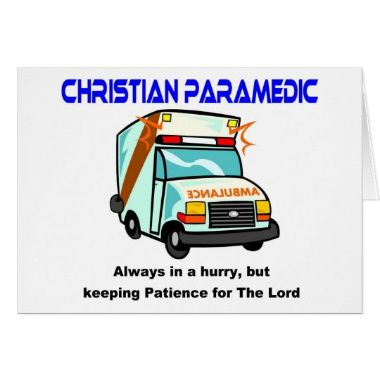 Christian Paramedic religious gift Card