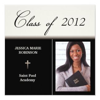 Christian Parochial School Photo Graduation 13 Cm X 13 Cm Square Invitation Card